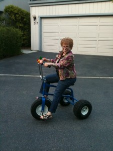 Barbara Riding the Tricycle