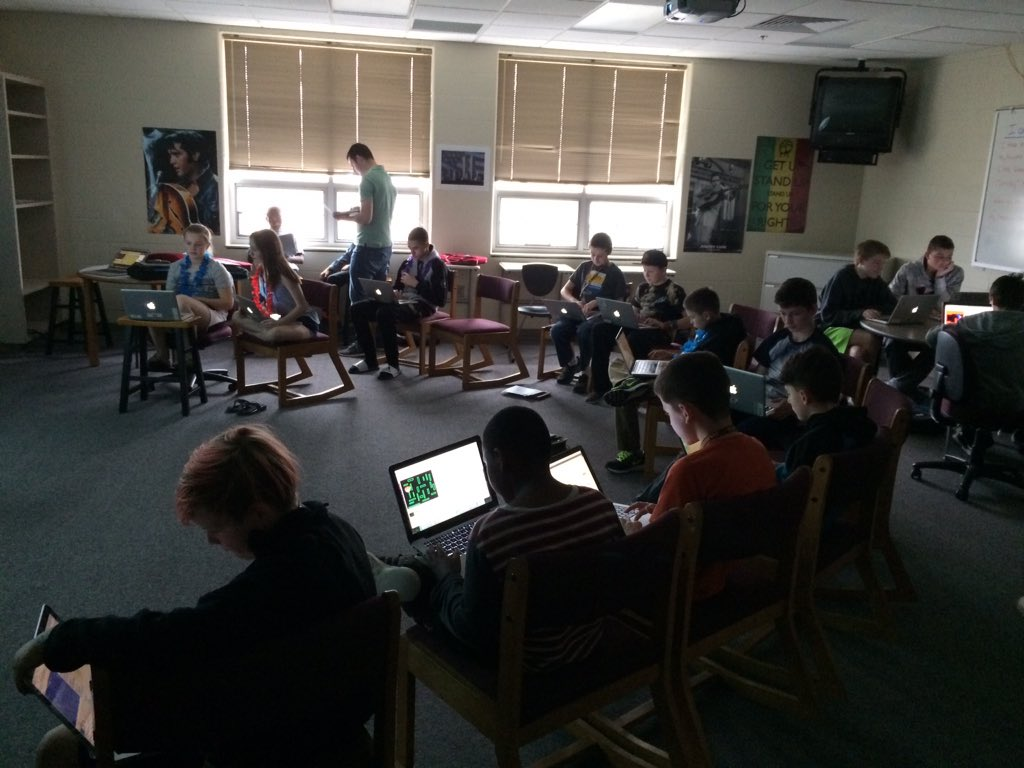 Coding Session at Harrisburg MS, SD