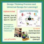 #plearnchat on Design Thinking and UDL
