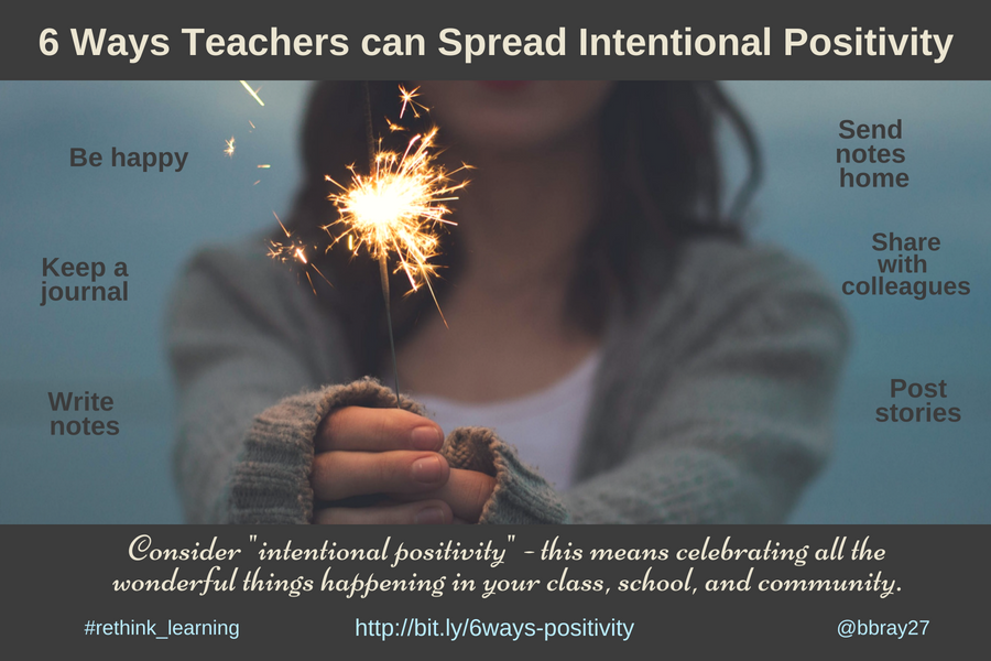 6 Ways Teachers Consider Intentional Positivity