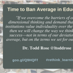 Time to Ban Average in Education