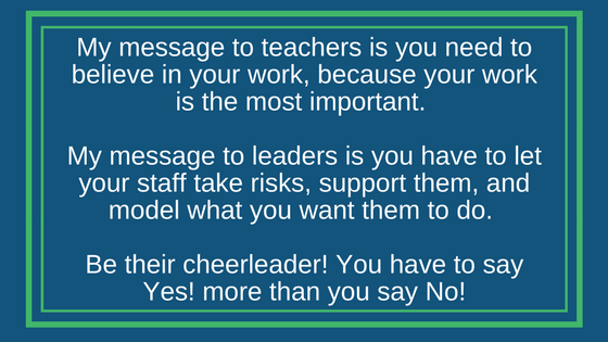 Eric's message to teachers and leaders