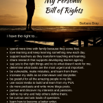 My Personal Bill of Rights