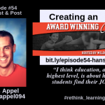 Episode #54: Create an Awarding Winning Culture with Hans Appel