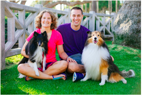 Hans and Jennifer Appel with dogs