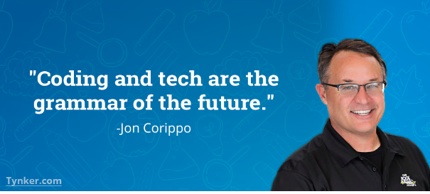 Jon Corippo's quote on coding