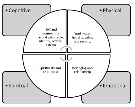 Cross's worldview principles (2007) oriented in the holistic model