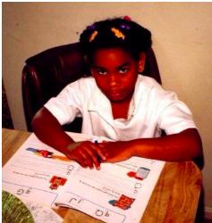 Sarah Thomas as a student