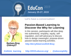 Passion-Based - EduCon 2019 Session - BRAY