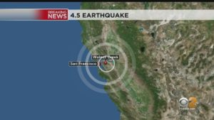 Earthquake 10/19 Walnut Creek