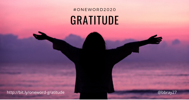 Fig.10.1. My One Word 2020-gratitude