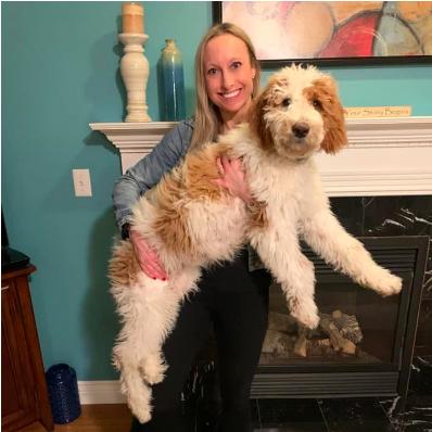 Elisabeth Bostwick with her dog, Chloe